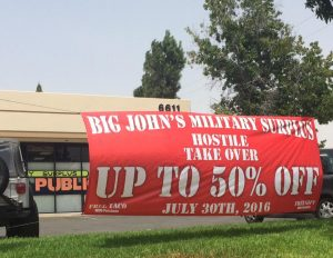outdoor promotional banner