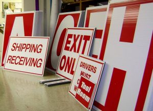 corrugated indoor signage collection